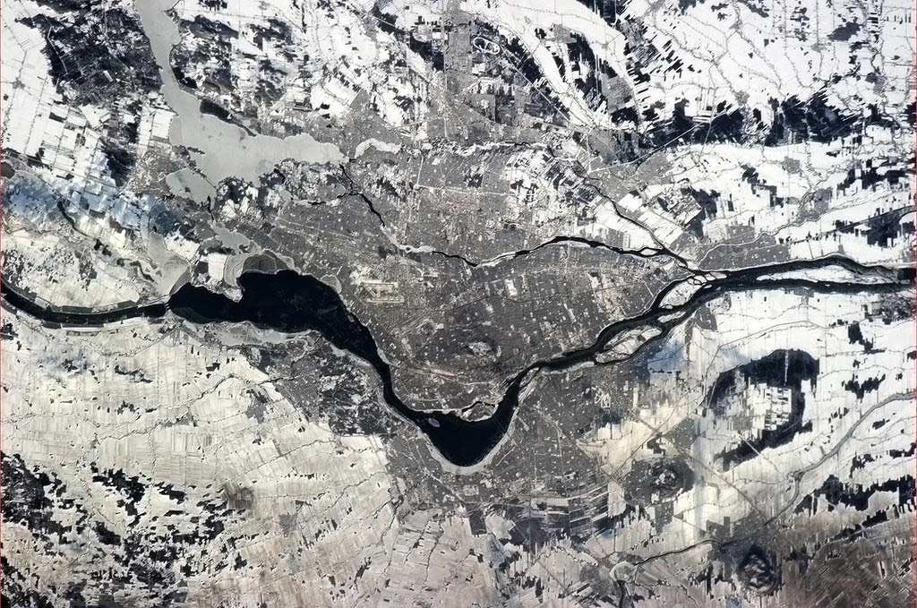 Montreal during the day from the ISS
